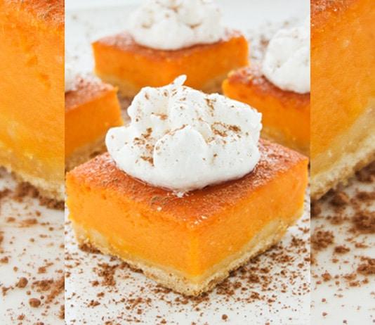 Pumpkin Pie Bars Desserts: Best Skinny Pumpkin Pie Bars Recipe