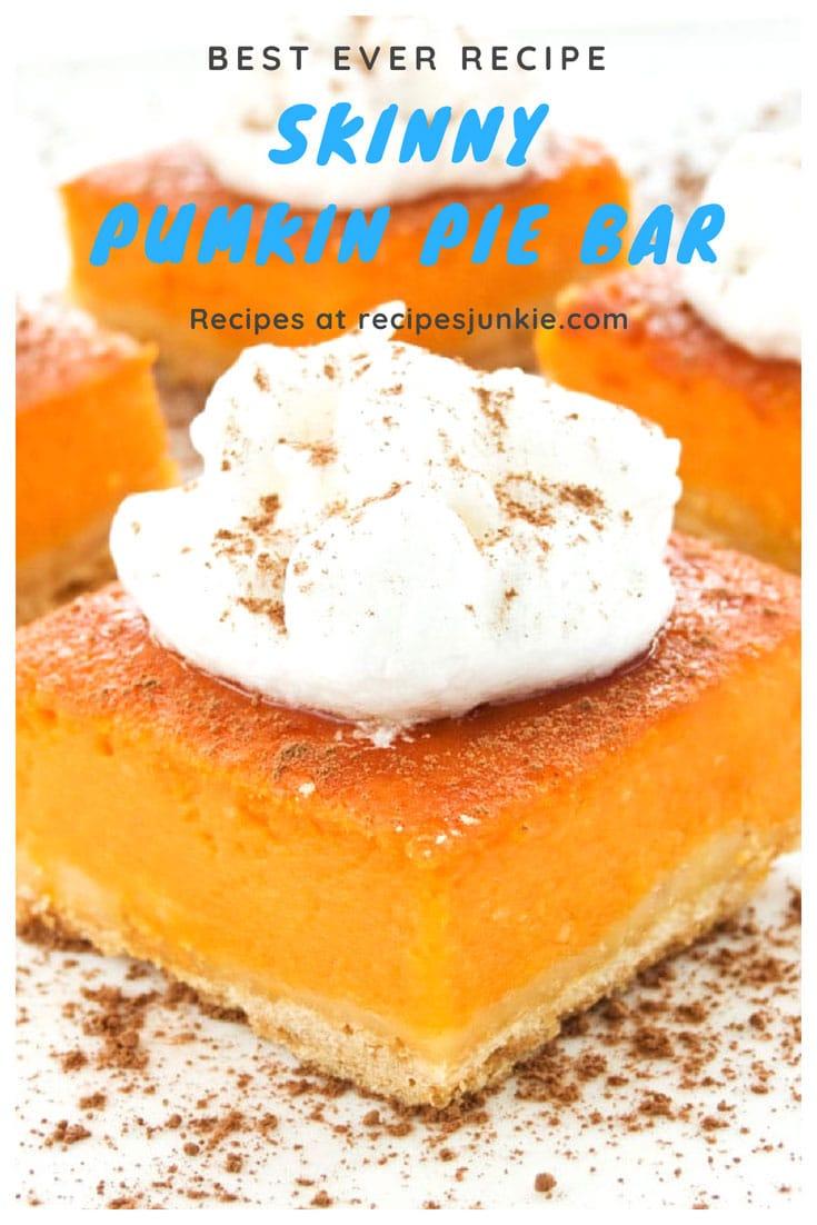 Best Skinny Pumpkin Pie Bars Recipe