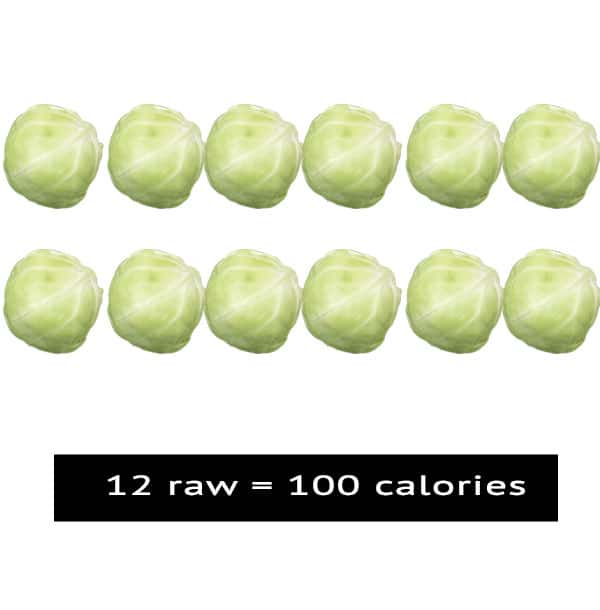 100 calories Brussels-Sprouts