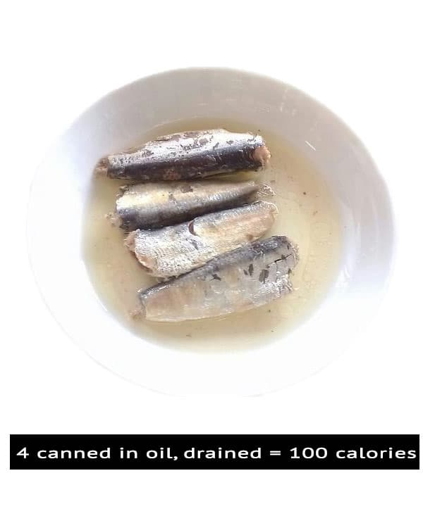 100 calories Canned Sardine