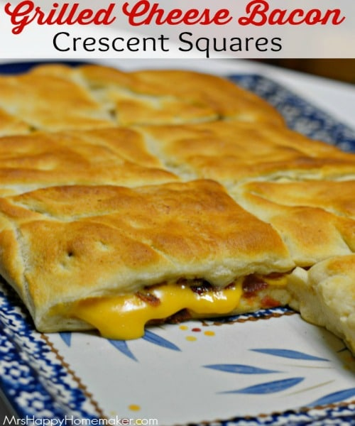 Grilled Cheese Crescent Squares