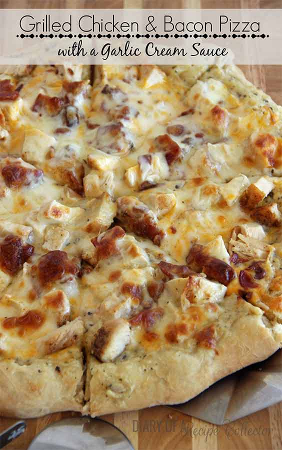 Grilled Chicken and Bacon Pizza