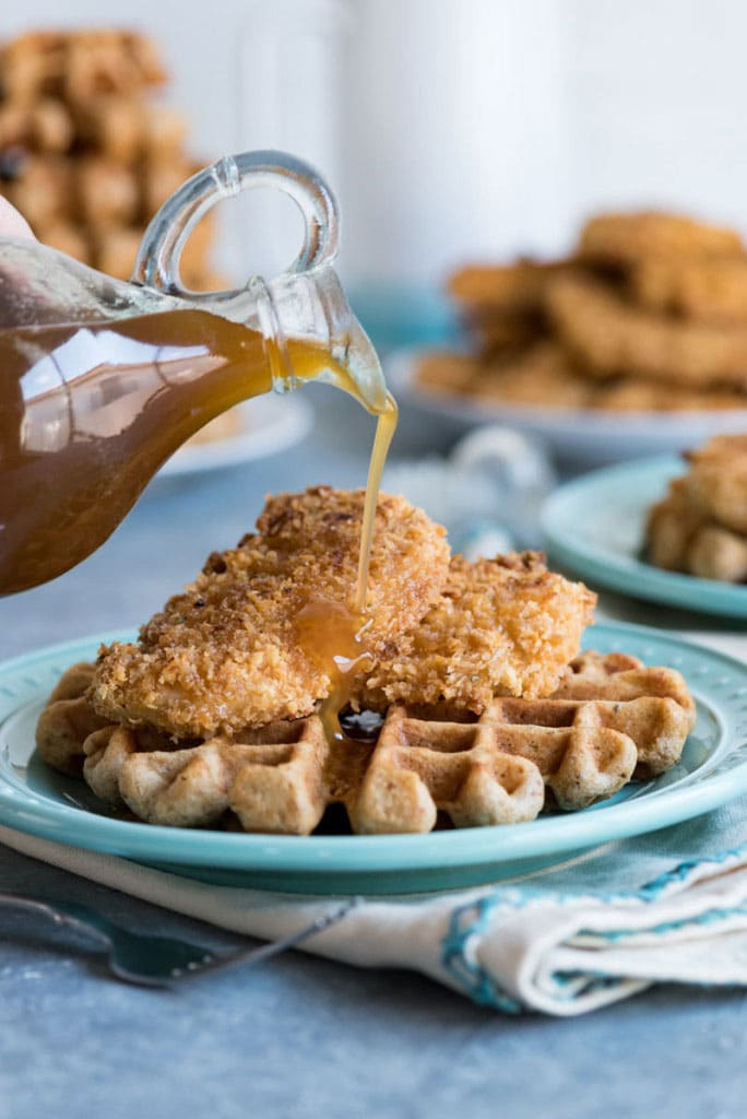 Healthier Chicken and Waffles