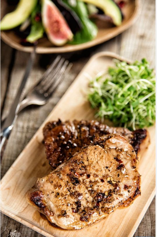 Pork Chops with Balsamic Glaze
