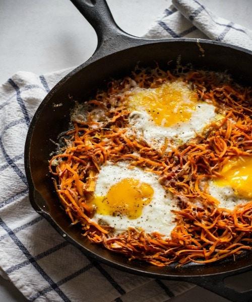 Sweet Potato and Eggs