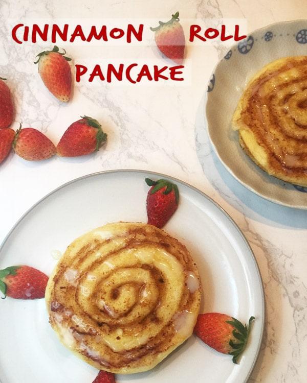 cinnamon roll pancake