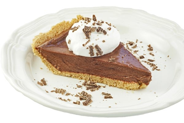 Skinny Double Chocolate Pudding Pie