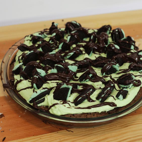 Mint Oreo Dessert Pizza
