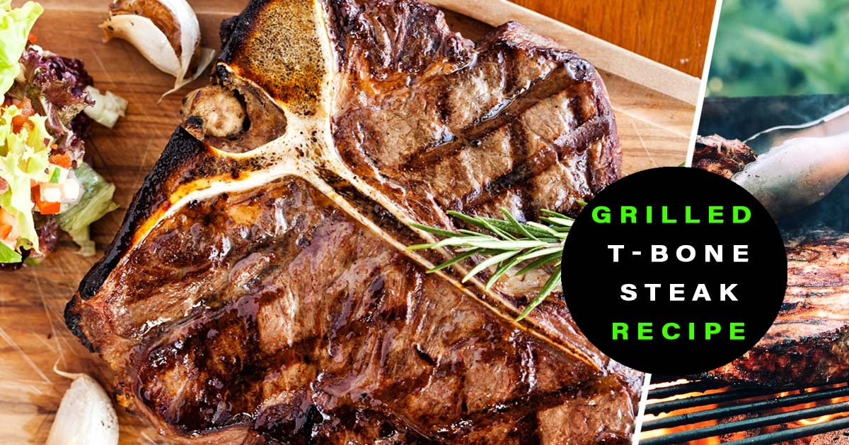 grilled t-bone steak florentine style