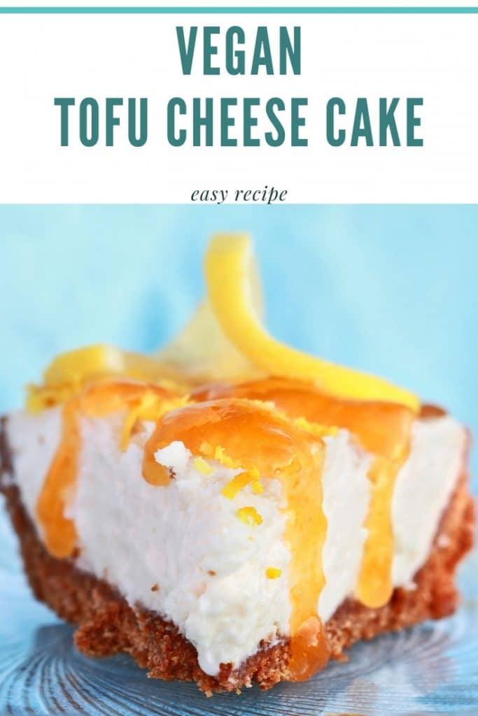 Vegan cheesecake tofu