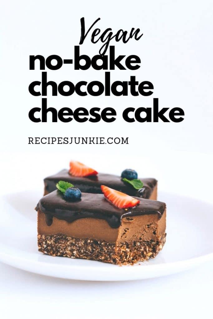 No-Bake Chocolate Vegan Cheesecakes