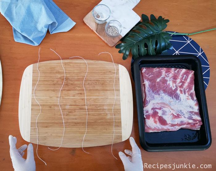 Rolled Crispy Pork Belly