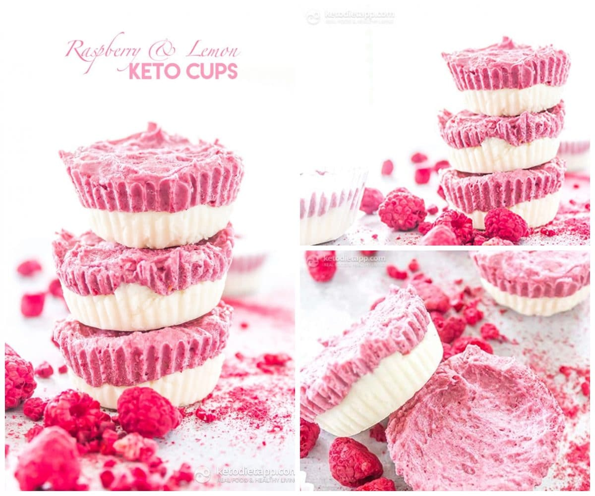 Keto Raspberry and Lemon Cups