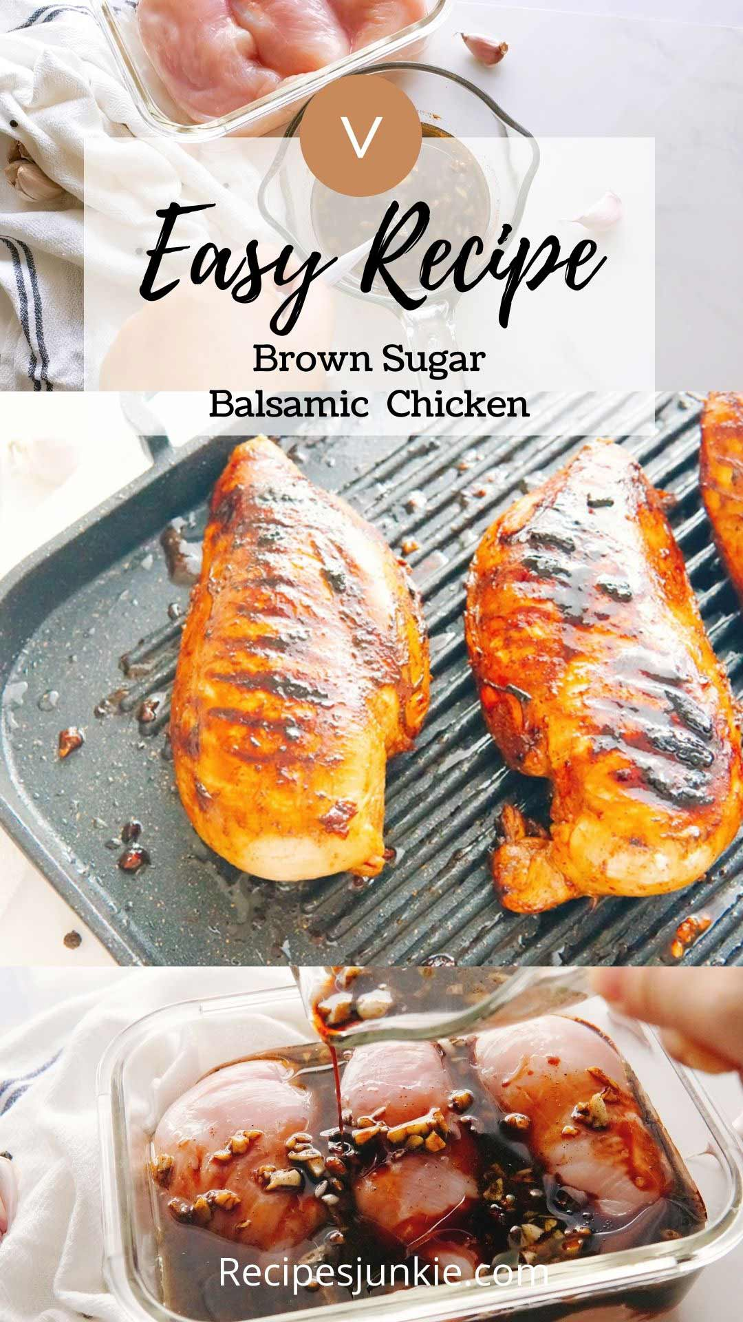 Balsamic Brown SugarGrilled Chicken