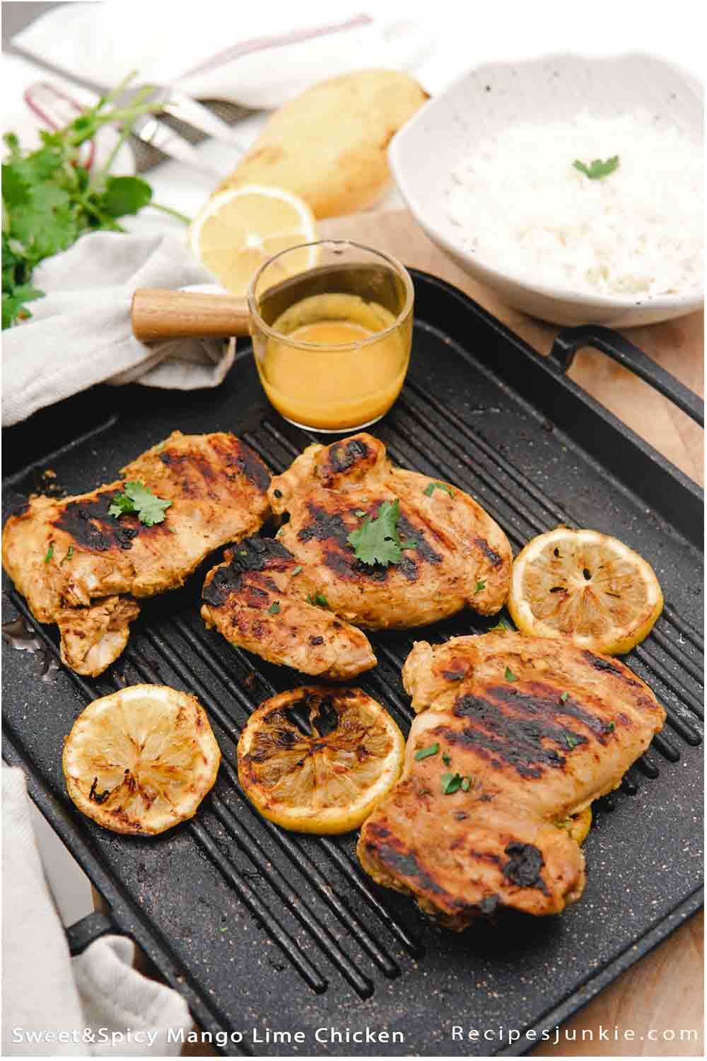 Sweet and Spicy Mango Lime Chicken